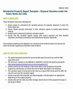 sample property valuation report 5 examples in word pdf With property valuation report template