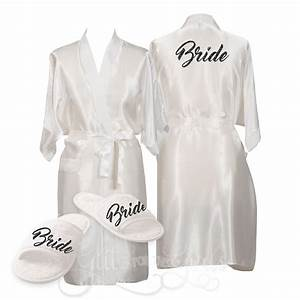 Bridesmaid Robe Slipper Gift Set Glitz For The Girls