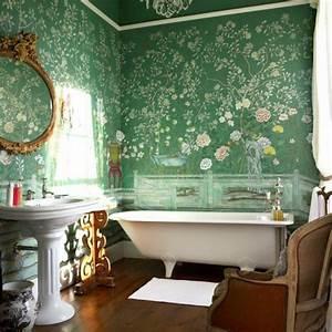 Badezimmer Retro Look : designer tapeten und wanddekoration f rs badezimmer ~ Orissabook.com Haus und Dekorationen