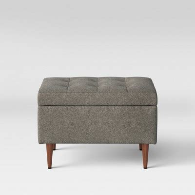 chenille extra long storage bench and ottoman lemoor extra long bench with storage gray project 62