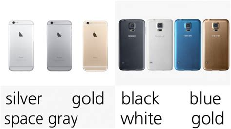 what colors does the iphone 6 come in iphone 6 vs samsung galaxy s5 a comparison of 25