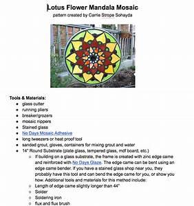 Calyx Glass Blog  Lotus Mosaic Mandala Pattern