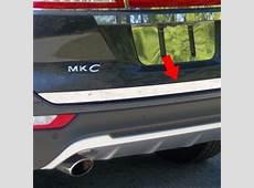 Lincoln MKC Chrome Tailgate Trim, 2015, 2016, 2017