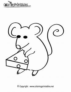 Coloring Pages Animals Mouse Cheese - Coloring Home