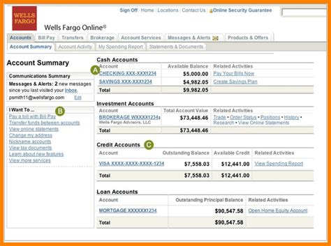 wells fargo bank statement 9 fargo bank account statement statement 2017