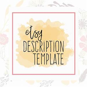 etsy description template etsy product template etsy help With etsy templates
