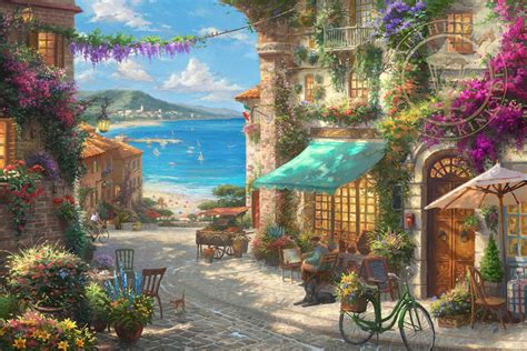 thomas kinkade italian cafe world wide art