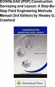 Pdf  Construction Surveying And Layout  A Step By Field