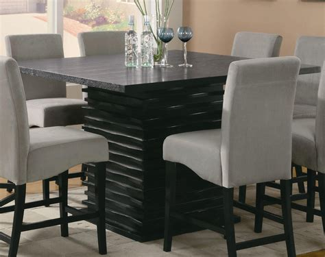Long narrow counter height dining tables, creative square