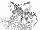 Rider Ghost Coloring Pages Mortal Kombat Vs Scorpion Ghostrider Drawing Skull Printable Colouring Print Sketch Deadpool Drawings Spawn Lego Deviantart sketch template
