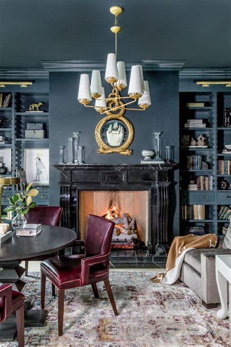 rachel parcells cozy home library designed