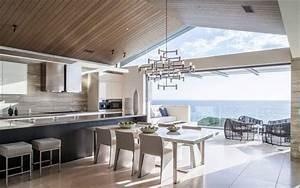 Scarica Sfondi Cucina Soggiorno Design Moderno  Villa  Casa Di Campagna  Interni Moderni Per