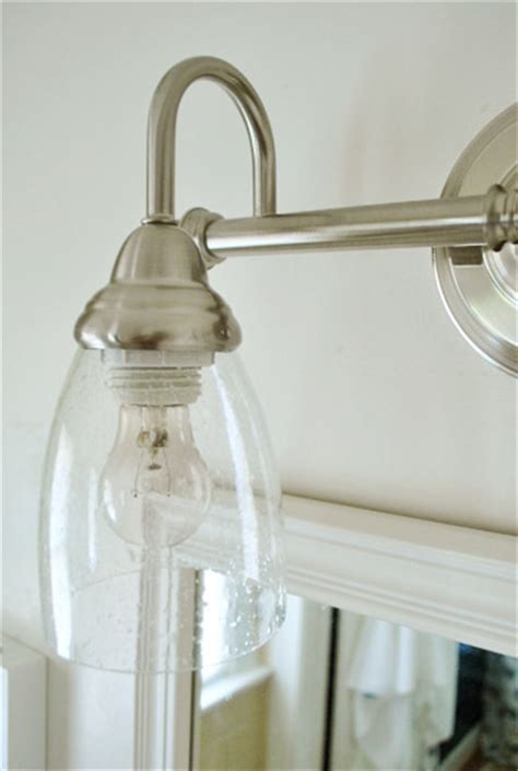 Glass Shades For Bathroom Light Fixtures by Switching Out The Bathroom Light House