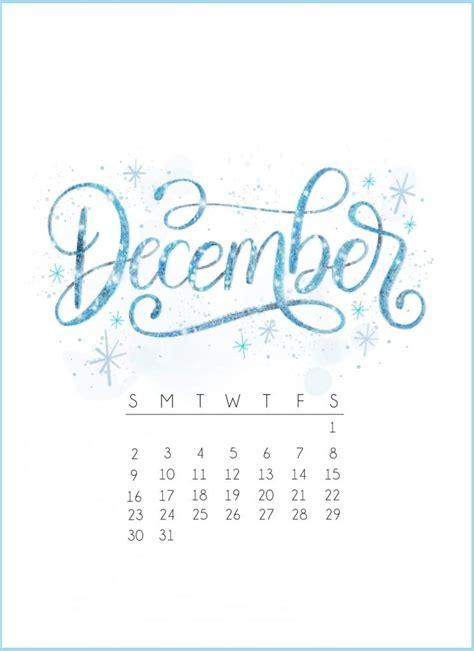 december  calendar design calligraphy calendar