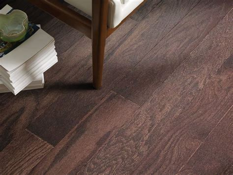 This hardwood flooring features high color and character variation with distinguishable color variation within each box. Shop Shaw Floors Duras Hardwood Century Oak 5 Coffee Bean 00958_HW695 Hardwood Flooring   Leaf ...