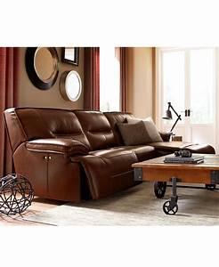 Beckett leather power reclining sectional collection for Macy s reclining sectional sofa