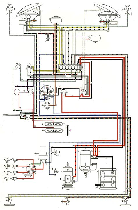 1965 Vw Starter Wiring Diagram by Thesamba Type 2 Wiring Diagrams