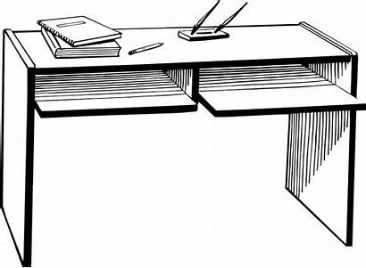 Desk Clipart Office Illustration Background Teacher Student