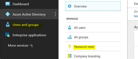 Office 365 Portal Reset Password by Enable Self Service Password Reset Sspr In Office 365