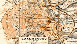Ģeogrāfiskā karte - Luksemburga (Grand Duchy of Luxembourg ...