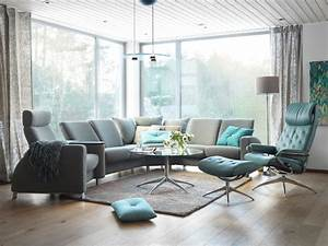 Salon Gris Bleu : ambiance cosy familiale avec ensemble de salon bleu et gris stressless ~ Melissatoandfro.com Idées de Décoration