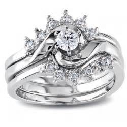 white gold wedding ring sets royal crown design trio wedding ring set for in white gold 1 2 carat jewelocean