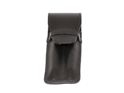 protection bureau cuir etui a 2 stylos en cuir noir accessoire en cuir