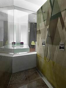 Papier Peint Pour Salle De Bain : papiers peints cr atifs pour une salle de bain design ~ Dailycaller-alerts.com Idées de Décoration