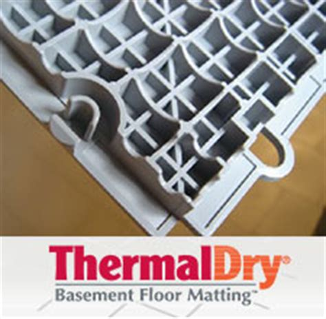 Thermaldry Basement Floor Matting Canada by Basement Flooring Waterproofed Mold Resistant Basement