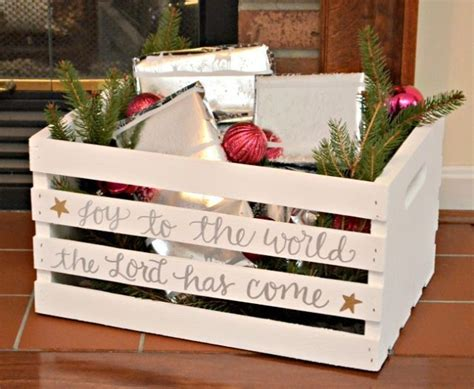 clever ways   wooden crates  christmas crafts