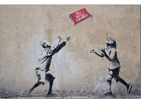 banksy canvas prints  ball games
