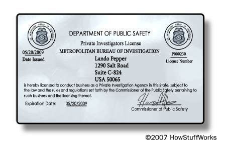 requirements  private investigator license security