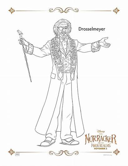 Coloring Nutcracker Pages Sheets Drosselmeyer Printable Disney
