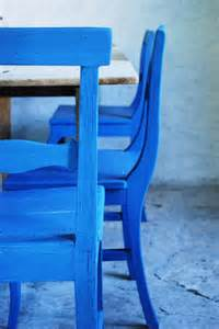 Cobalt Blue Painted Chairs