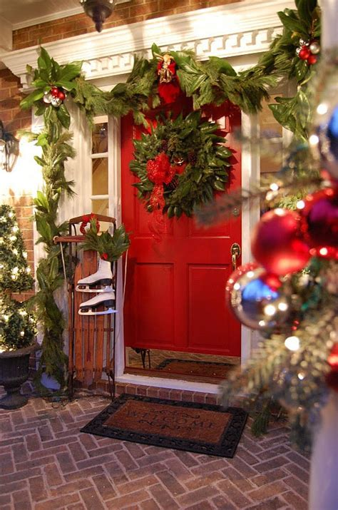 porch decorating ideas for christmas christmas porch and front door decorating ideas adorable home