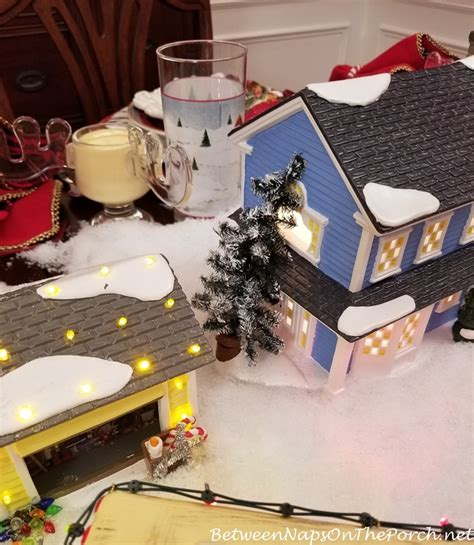 christmas vacation table setting  department  lit houses