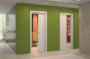 porte a galandage prix moyen d39une porte coulissante With porte de garage coulissante avec porte en verre interieur