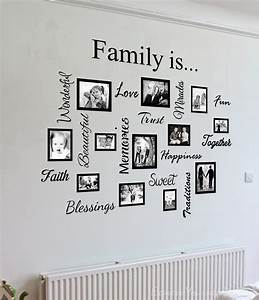 Family quote picture frame gallery frame gallery for The best of family decals for walls