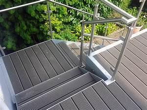 gelander u treppen lp metall gbr metallbau osnabruck With garten planen mit wpc belag balkon