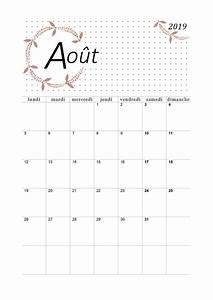 Calendrier Par Mois : calendrier mensuel 2019 imprimer en format pdf ~ Dallasstarsshop.com Idées de Décoration
