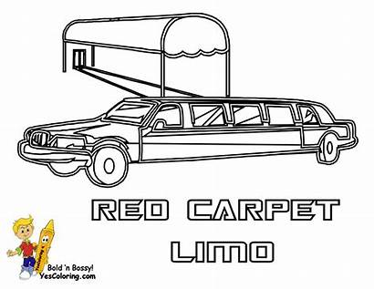 Limo Coloring Pages Limousine Printable Transportation Police