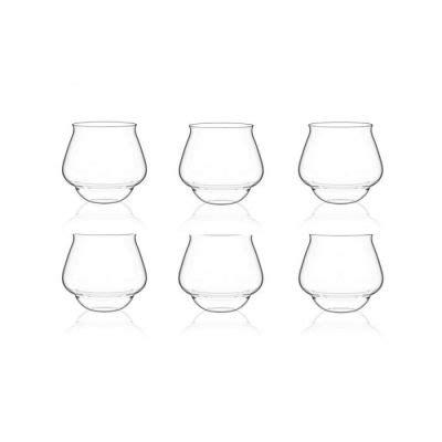italesse bicchieri set 6 bicchieri acqua impilabili in vetro tonic glas