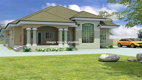 Bedroom Bungalow House Plan Nigeria Ghana Home Building, 3