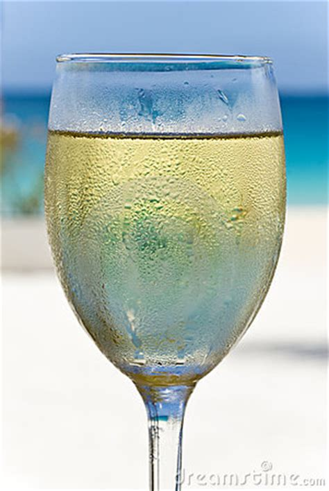 glass  white wine   beach royalty  stock images