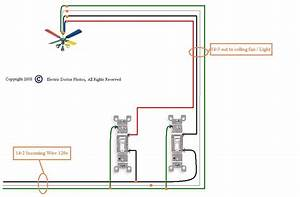 Wiring A Ceiling Fan With Two Switches