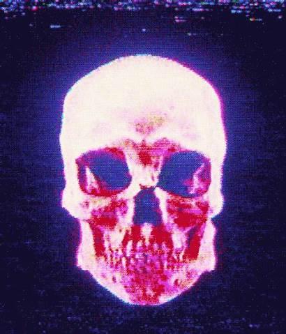 Skull Cool Artists Artistic Gifs Glitch Tv