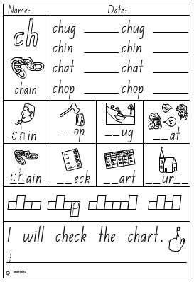 activity sheet digraph ch english skills