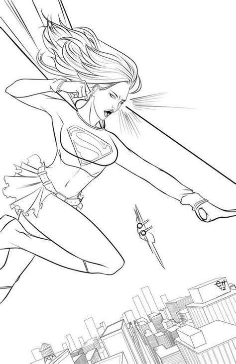 supergirl malvorlagen ausmalbilder kinder