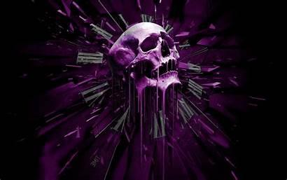 Skull Purple Abstract Wallpapers Desktop 3d Violet