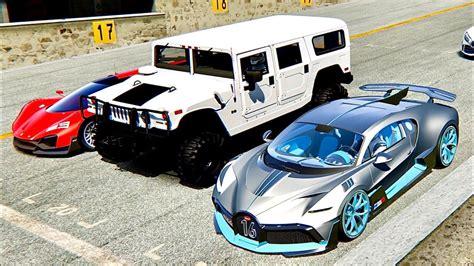 Forza horizon 4 drag race: Bugatti Divo vs Hammer H1 Monster vs Ferrari Xezri - Old Spa - YouTube